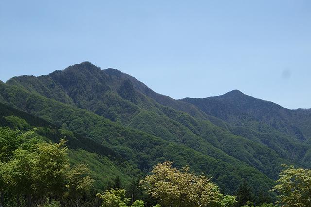 秩父帯の山々(白岩山と雲取山)