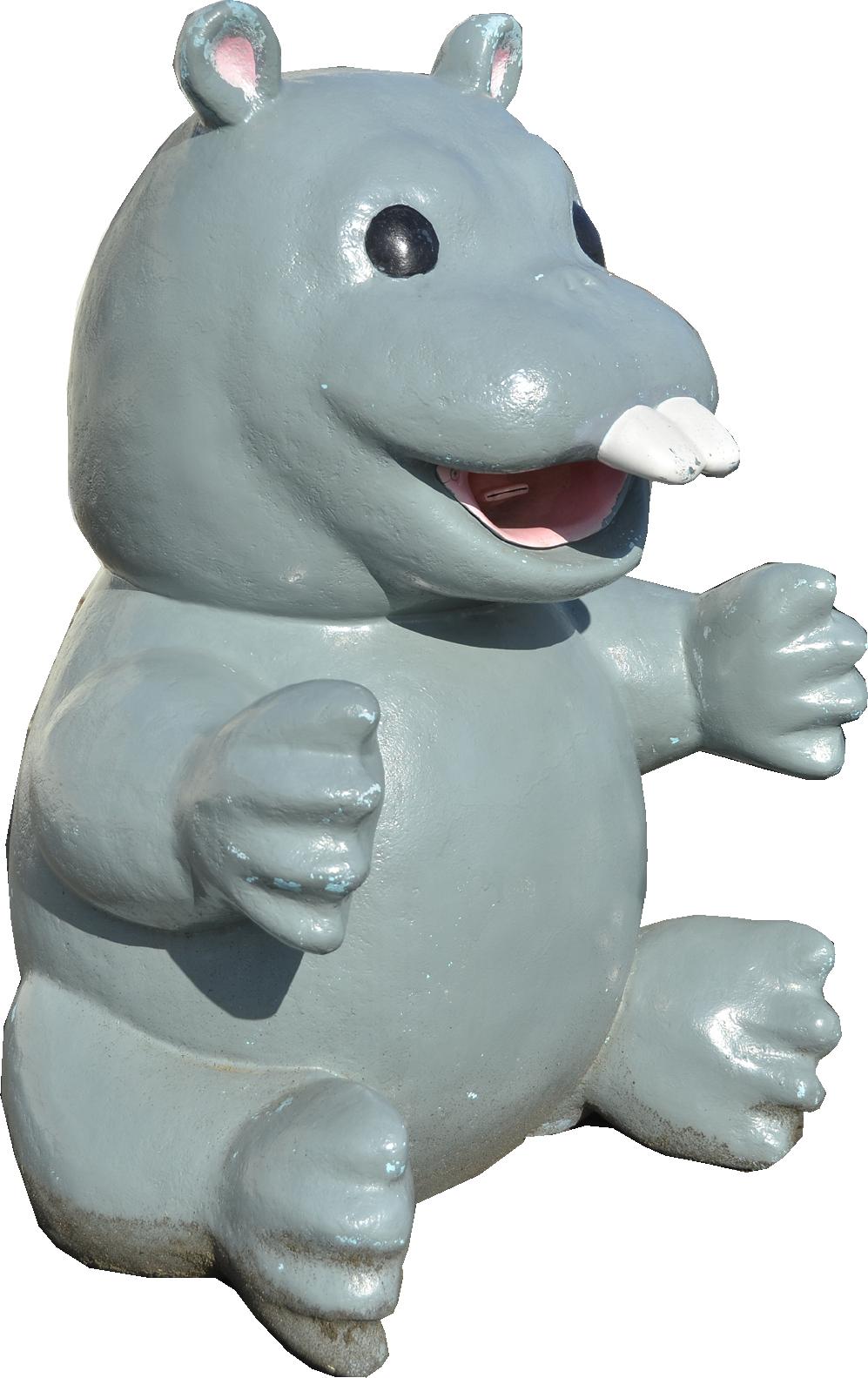 おがの化石館のパレオパラドキシア像(子ども?)