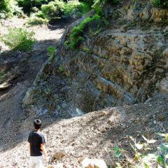 皆本沢の礫岩