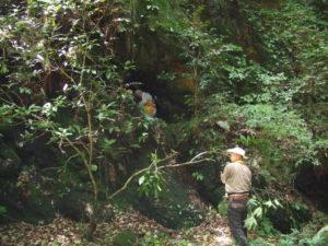 マンガン採掘跡