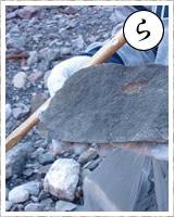 「ら」・・・ラッキー!1500万年前の地層から「カニ化石」