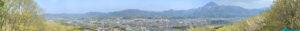 ミューズパークから眺める秩父盆地